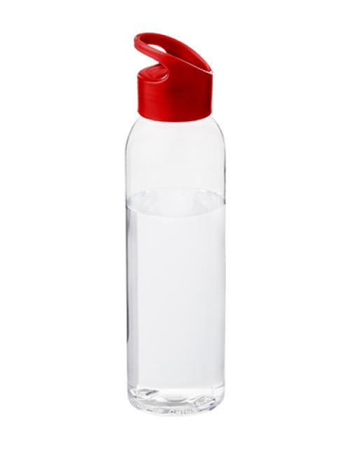 Drinkfles Transparant Rood Bedrukken