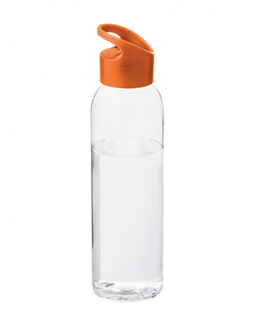 Drinkfles Transparant Oranje Bedrukken