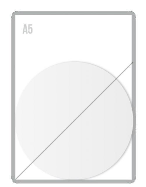 Witte Folie Stickers Diameter 150mm Drukken