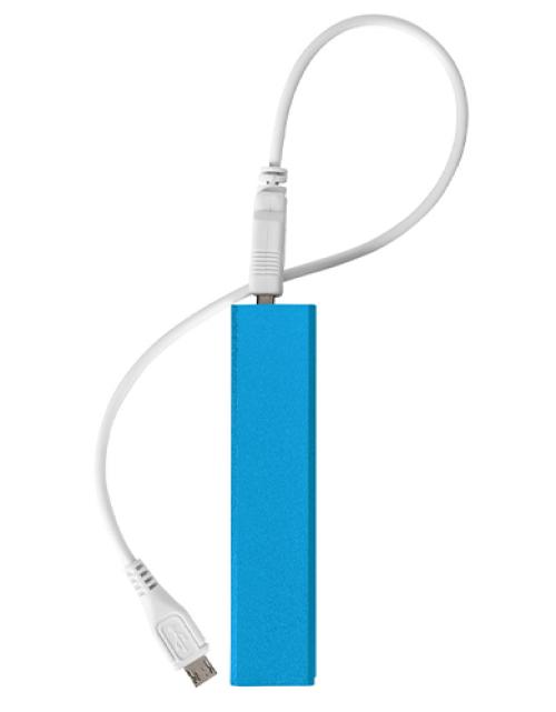 Bedrukte Powerbank Lichtblauw