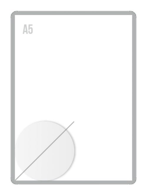 Witte Folie Stickers Diameter 75mm Drukken