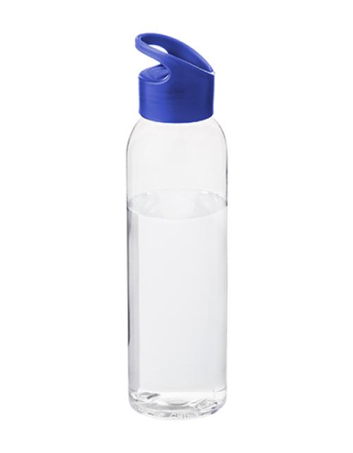Drinkfles Transparant Blauw Bedrukken