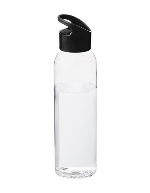 Drinkfles Transparant Zwart Bedrukken